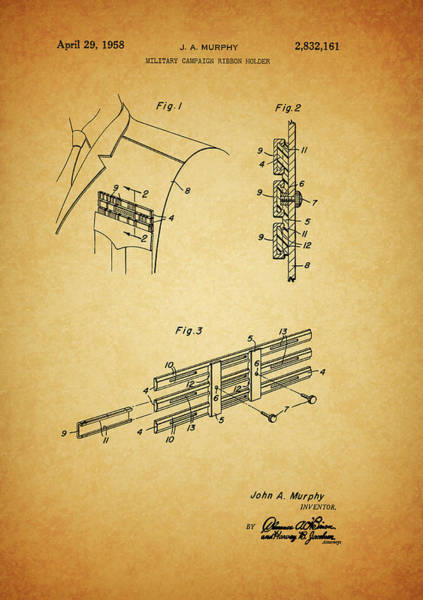 Drawing - Military Ribbon Patent by Dan Sproul