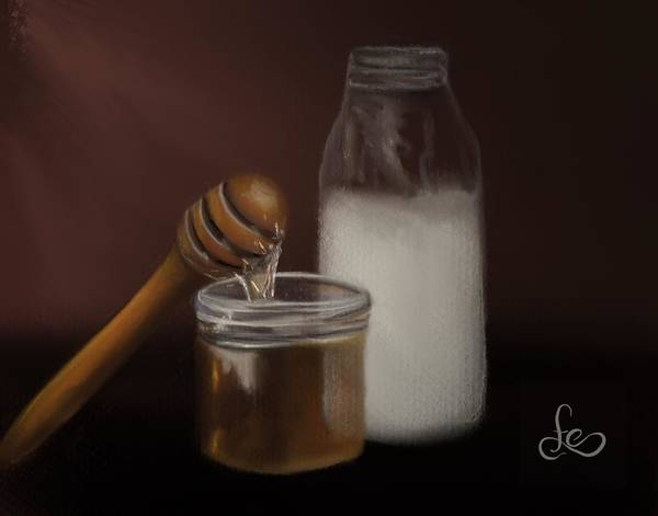 Painting - Milk And Honey  by Fe Jones