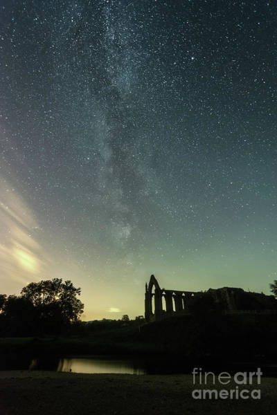 Photograph - Milky Way Above Bolton Abbey by Mariusz Talarek