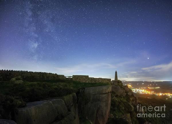 Photograph - Milky Way Above Earl Crag by Mariusz Talarek