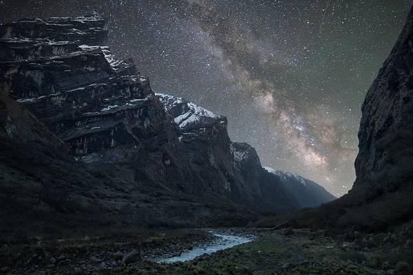 Nepal Wall Art - Photograph - Milky Way Above Himalayas by Anton Jankovoy
