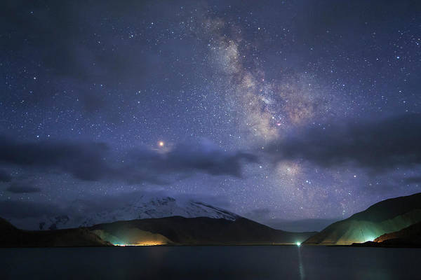 Photograph - Milky Way And Mars Appear Among by Jeff Dai