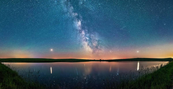 Photograph - Milky Way And Planets Over A Prairie by Alan Dyer
