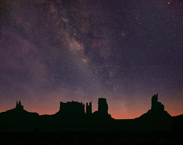 Photograph - Milky Way And Starry Sky, Monument by