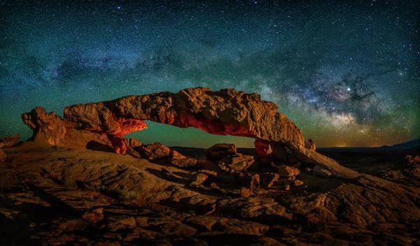 Photograph - Milky Way Arch In Escalante by Michael Ash