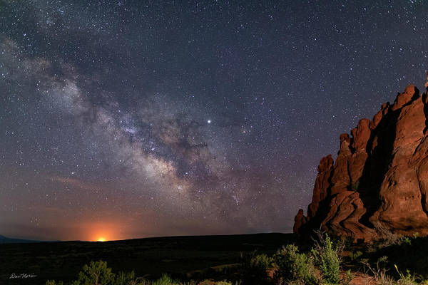 Photograph - Milky Way At Navajo Rocks by Dan Norris