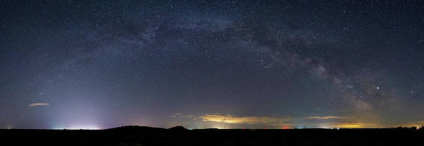 Digital Art - Milky Way At Potholes Coulee, Washington by Michael Lee