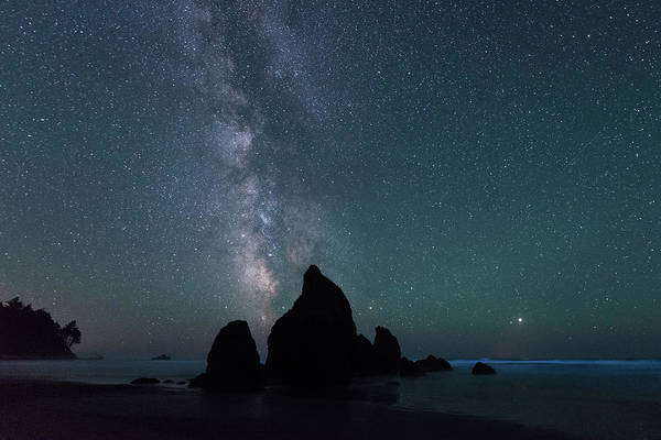 Digital Art - Milky Way At Ruby Beach, Olympic National Park by Michael Lee