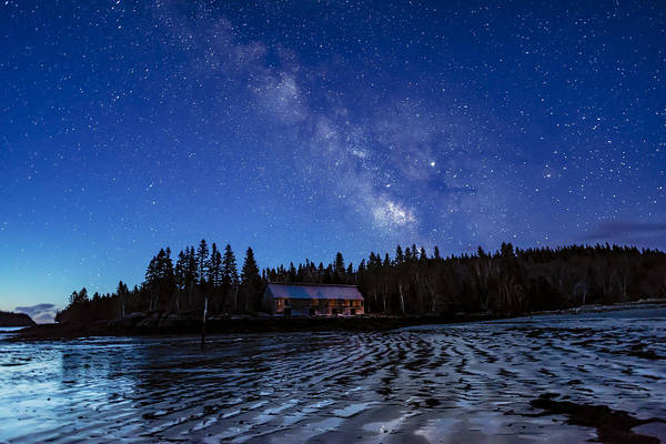 Photograph - Milky Way Blue Hour At Smokehouse by Marty Saccone