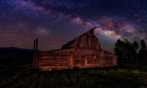 Teton National Park Digital Art - Milky Way by David Marsh