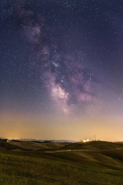 Photograph - Milky Way In Val D'orcia by Matteo Viviani