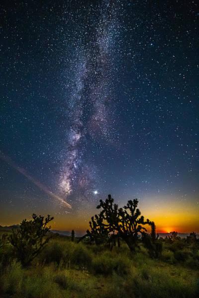 Milky Way Moonset Art Print by Matt Deifer