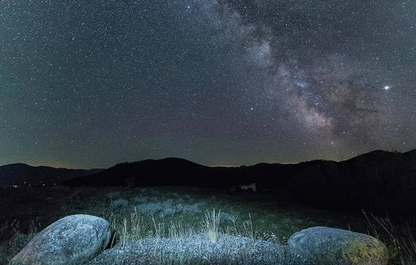 Photograph - Milky Way Mountains by Kristopher Schoenleber