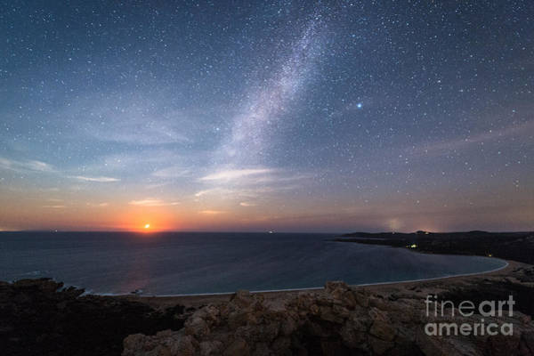Night Life Photograph - Milky Way On The Beach by Yari Ghidone