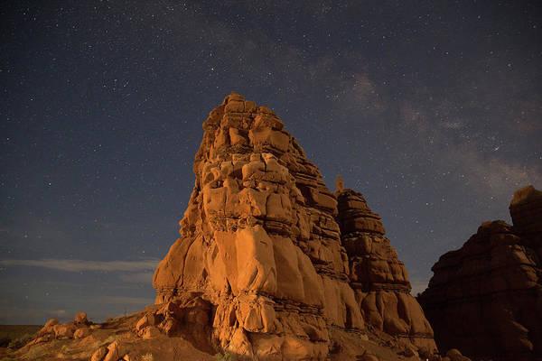 Milky Way On The Rocks Art Print