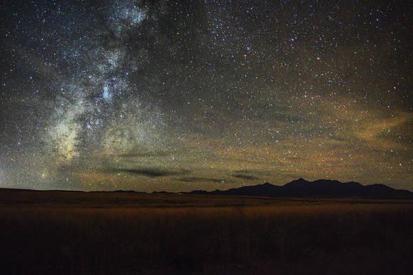 Photograph - Milky Way Over Arizona Desert by Chance Kafka