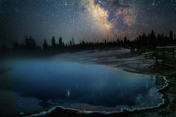 Wall Art - Photograph - Milky Way Over Black Pool by Eilish Palmer