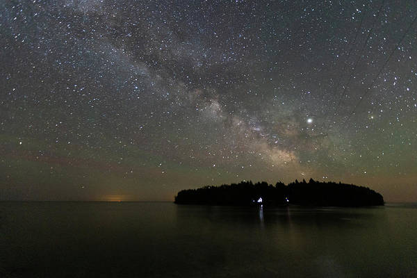Photograph - Milky Way Over Cana Island by Paul Schultz
