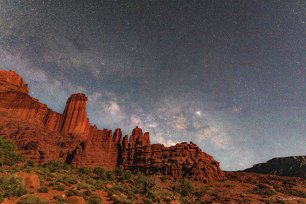 Photograph - Milky Way Over Fisher Towers by Dan Norris
