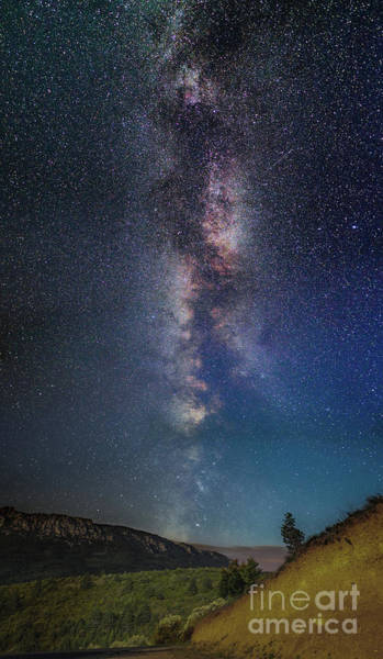 Wall Art - Photograph - Milky Way Over Hills, France by Bruno Paci