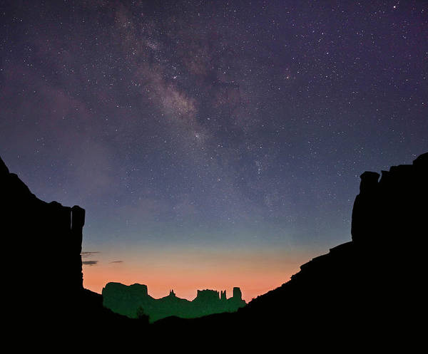 Photograph - Milky Way Over Monument Valley, Arizona by Tim Fitzharris