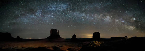Photograph - Milky Way Over Monument Valley by James Capo