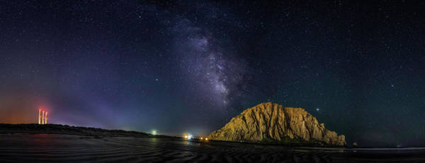 Milky Way Over Morro Rock Art Print