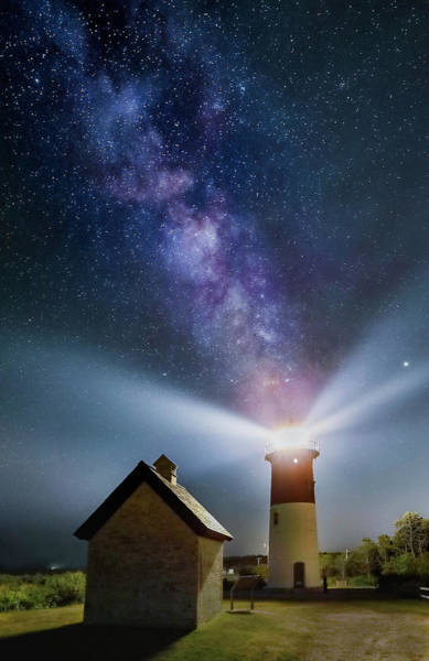 Photograph - Milky Way Over Nauset Lighth by Juergen Roth