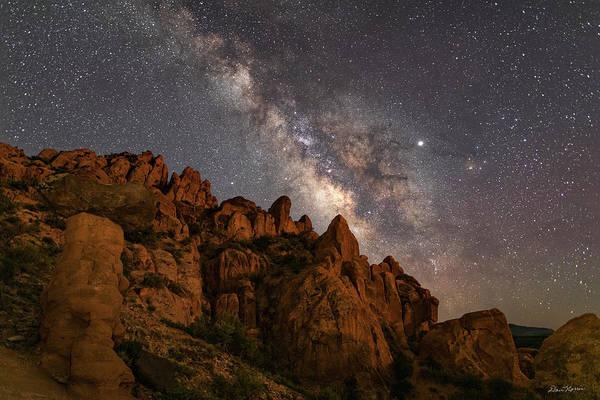 Photograph - Milky Way Over Rocky Terrain by Dan Norris