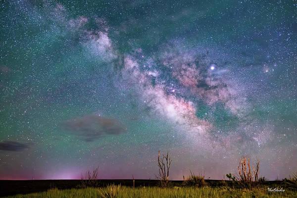Photograph - Milky Way Over The Colorado Prairie by Tim Kathka