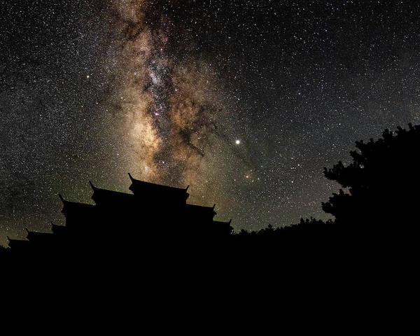 Photograph - Milky Way Over The Dark Temple by William Dickman
