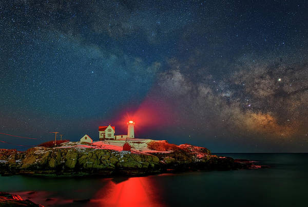 Photograph - Milky Way Over The Nubble by Rick Berk