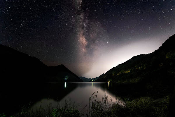 Photograph - Milky Way Over The Ou River Near Longquan In China by William Dickman
