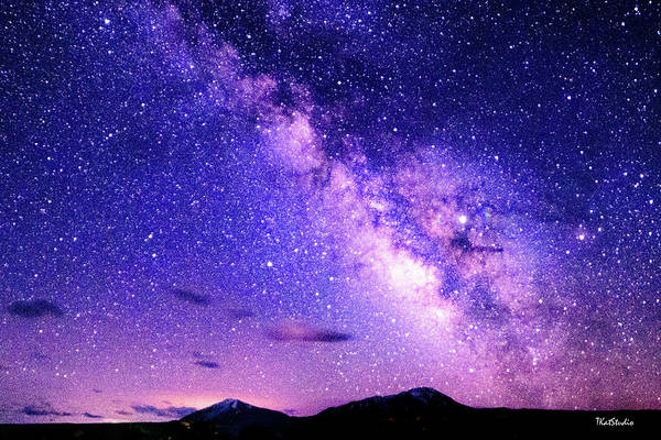 Photograph - Milky Way Over The Spanish Peaks by Tim Kathka