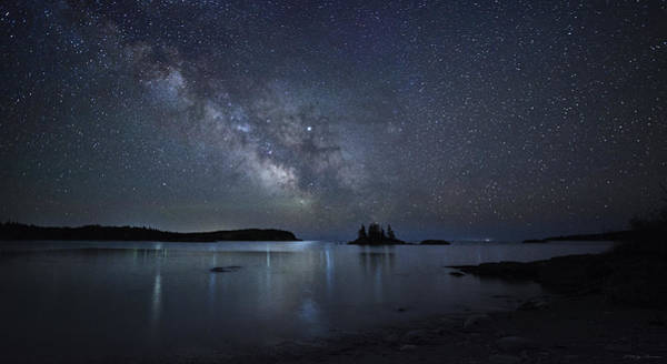 Photograph - Milky Way Panorama At Wallace Cove by Marty Saccone