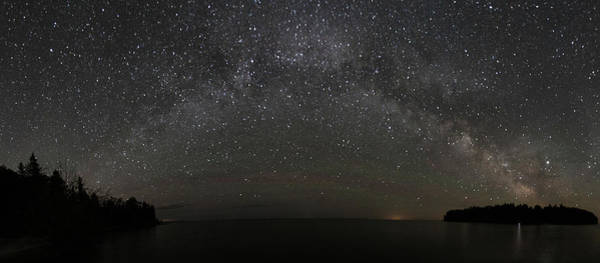 Photograph - Milky Way Panoramic Over Cana Island by Paul Schultz