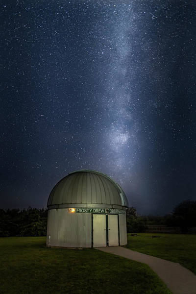 Photograph - Milky Way Rising Over Observatory by Susan Candelario
