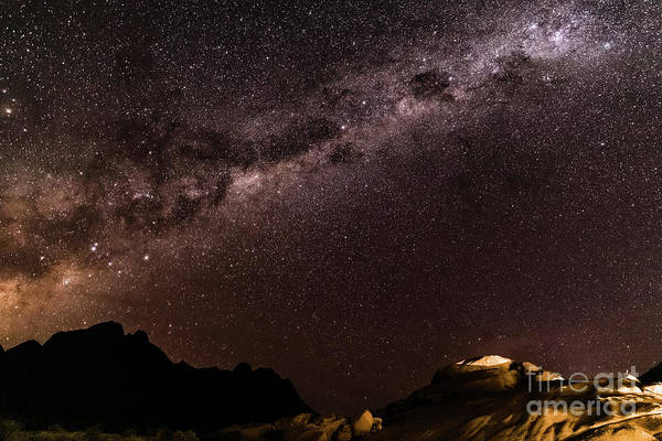 Photograph - Milkyway Over Spitzkoppe, Namibia by Lyl Dil Creations