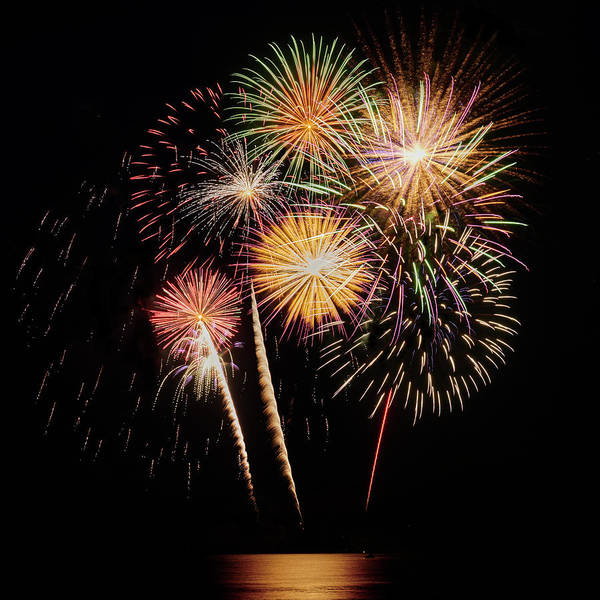 Wall Art - Photograph - Mille Lacs Fireworks by Paul Freidlund