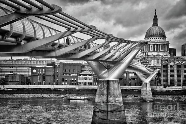 Millenium Photograph - Millenium Bridge In London by Delphimages Photo Creations