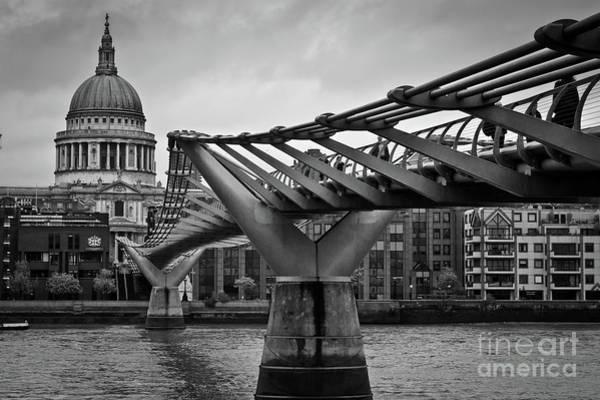 Photograph - Millennium Bridge 01 by Arnaldo Tarsetti