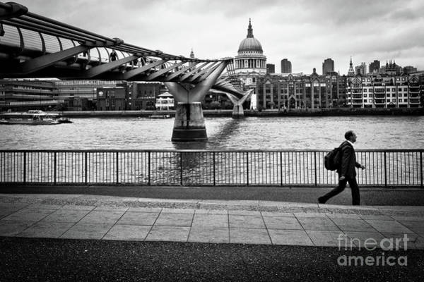 Photograph - millennium Bridge 02 by Arnaldo Tarsetti