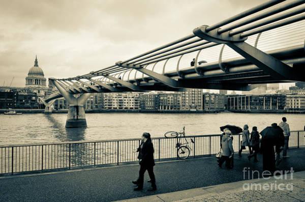 Photograph - Millennium Bridge 03 by Arnaldo Tarsetti