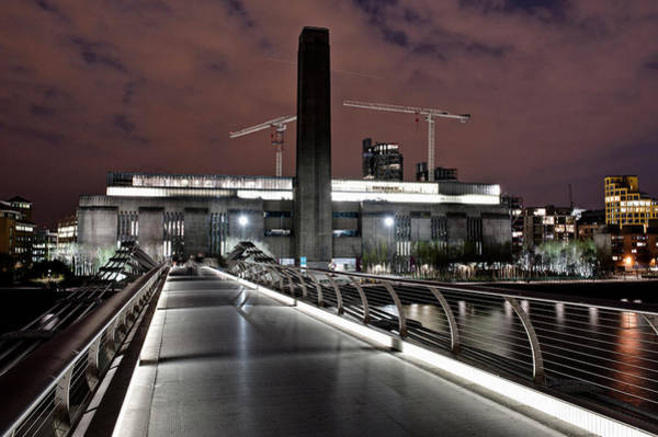 Tate Photograph - Millennium Bridge And Museum At Night by Cultura Exclusive/dan Dunkley