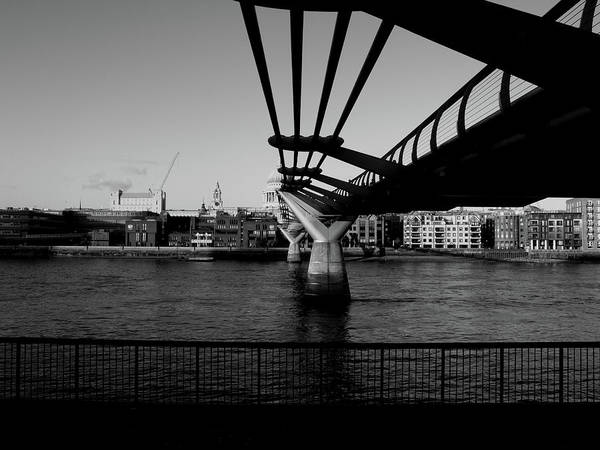 Art Print featuring the photograph Millennium Bridge  by Edward Lee