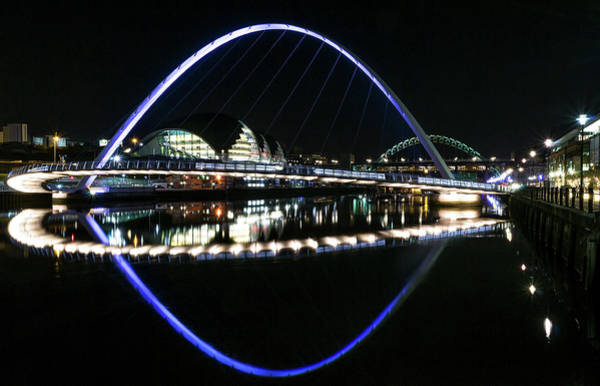 Gateshead Millennium Bridge Photograph - Millennium Bridge Reflections by Ricky Schonewald