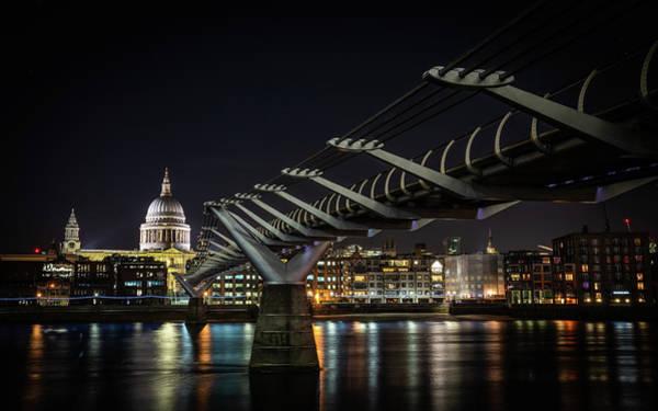 Photograph - Millennium Bridge St Paul's Left #2 by Framing Places