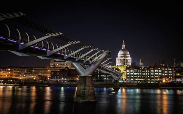 Photograph - Millennium Bridge St Paul's Right #1 by Framing Places