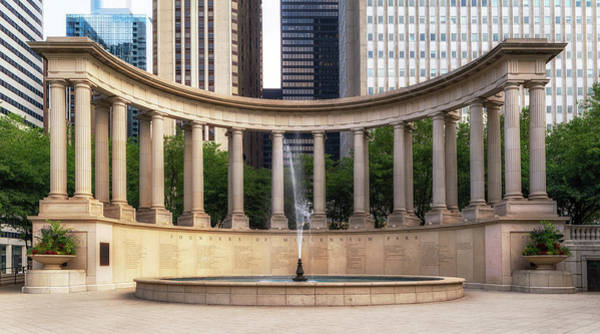 Wall Art - Photograph - Millennium Monument In Wrigley Square by Jerry Fornarotto