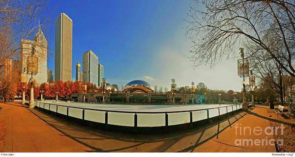 Photograph - Millennium Park Mccormick Tribune Ice Rink Jele3642 by Tom Jelen